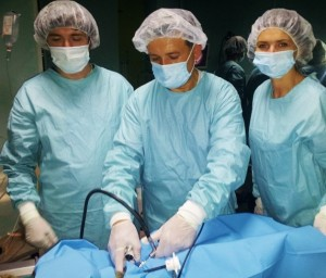 Picture 11. A. Removing of instruments, after successful intervention