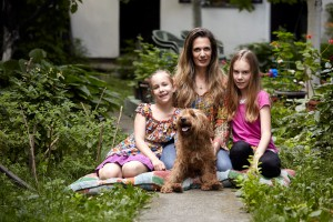 my girls and our dog